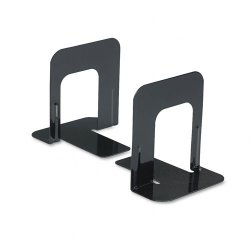 Universal Office Products - 54051 - Economy Bookends, Standard, 4 3/4 x 5 1/4 x 5, Heavy Gauge Steel, Black