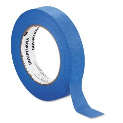 Universal Office Products - UNVPT14024 - Premium Blue Masking Tape w/Bloc-it Technology, 24mm x 54.8m, Blue