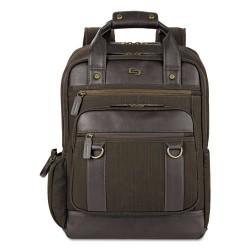 Classic Luggage / Sterling & Burke - EXE735-3 - Bradford Backpack, 15.6, 12 x 5 x 17, Olive Denim/Espresso