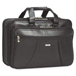 Classic Luggage / Sterling & Burke - SGB300-4 - Classic Smart Strap Briefcase, 16, 17 1/2 x 5 1/2 x 12, Black