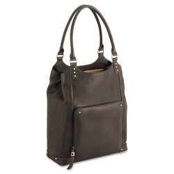 Classic Luggage / Sterling & Burke - VTA804-3 - Executive Leather/Poly Bucket Tote, 16, 15 1/2 x 4 3/4 x 17 1/4, Espresso