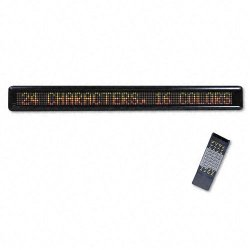 U. S. Stamp & Sign - 3527 - LED Electronic Moving Message Sign, 39 1/2 x 1 7/8 x 4 1/2
