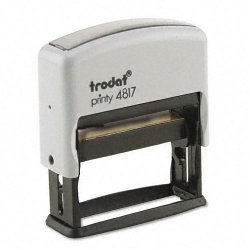 U. S. Stamp & Sign - 5003 - Trodat Economy 12-Message Stamp, Dater, Self-Inking, 2 x 3/8, Black