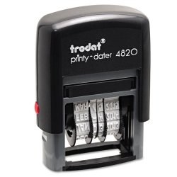 U. S. Stamp & Sign - 5006 - Trodat Economy Stamp, Dater, Self-Inking, 1 5/8 x 3/8, Black