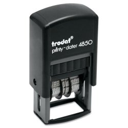 U. S. Stamp & Sign - 5007 - Trodat Econ Micro 5-in-1 Message Stamp, Dater, Self-Inking, 1 x 3/4, Blue/Red