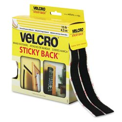 Velcro Industries - 90081 - VELCRO Brand VELCRO Brand Sticky Back Tape - 0.75 Width x 15 ft Length - 1 / Roll - Black