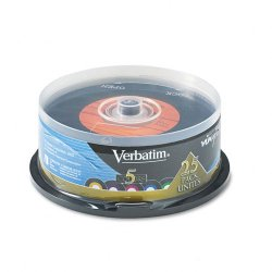 Verbatim / Smartdisk - 94488 - Verbatim CD-R 80min 52X with Digital Vinyl Surface - 25pk Spindle - 80min - 700MB - 25pk Spindle