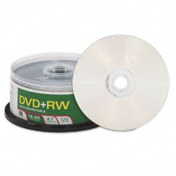 Verbatim / Smartdisk - 94834 - Verbatim DVD+RW 4.7GB 4X with Branded Surface - 30pk Spindle - 4.7GB - 30 Pack