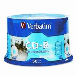 Verbatim / Smartdisk - 94892 - Verbatim CD-R 700MB 52X DataLifePlus Silver Inkjet Printable - 50pk Spindle - Printable - Inkjet Printable