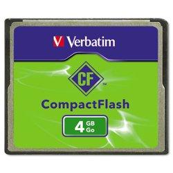 Verbatim / Smartdisk - 95188 - Verbatim 4GB CompactFlash Memory Card - 1 Card/1 Pack