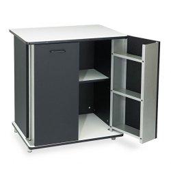 Advantus - VF35157 - Refreshment Stand, Two-Shelf, 29 1/2w x 21d x 33h, Black/White