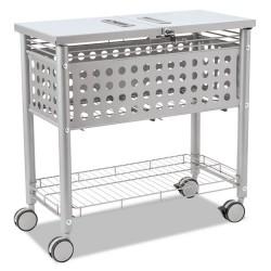 Advantus - VRT-VF52001 - Smartworx File Cart, One-Shelf, 29 1/8w x 14d x 28 3/8h, Matte Gray