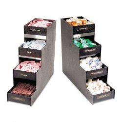 Advantus - VFC1916RC - Advantus Narrow Condiment Organizer - 8 Compartment(s) - 4 Divider(s) - 15.9 Height x 6 Width x 19 Depth - Black - 1Each