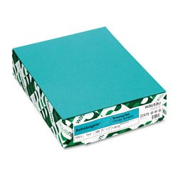 Wausau Papers - 22479 - Astro Colored Paper - Letter - 8 1/2 x 11 - 24 lb Basis Weight - Recycled - 30% Recycled Content - 500 / Ream - Terrestrial Teal