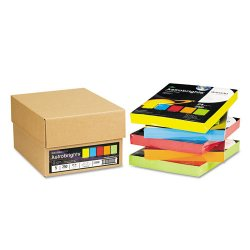Wausau Papers - 22998 - Color Paper - Five-Color Mixed Reams, 24lb, 8 1/2 x 11, 5 Colors, 1250 Sheets