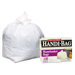 Webster - HAB 6FW130 - Handi-Bag Super Value Pack, 8gal, 0.6mil, 22 x 24, White, 130/Box