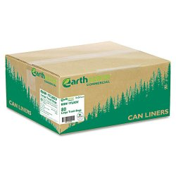 Webster - RNW1TL80V - Recycled Large Trash and Yard Bags, 33gal, .9mil, 32.5 x 40, Black, 80/Carton