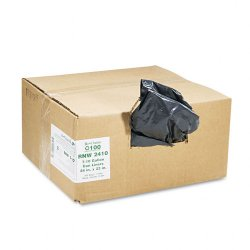 Webster - RNW2410 - Recycled Can Liners, 7-10gal, .85mil, 24 x 23, Black, 500/Carton