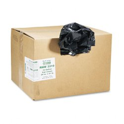 Webster - RNW3310 - Recycled Can Liners, 16gal, .85 Mil, 24 x 33, Black, 500/Carton