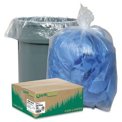 Webster - RNW4015C - Clear Recycled Can Liners, 31-33gal, 1.25mil, Clear, 100/Carton