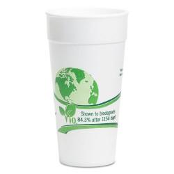 Wincup - 20C18VIO - Vio Biodegradable Cups, Foam, 20 oz, White/Green, 500/Carton