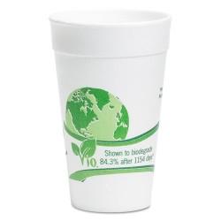 Wincup - 24C18VIO - Vio Biodegradable Cups, Foam, 24 oz, White/Green, 300/Carton