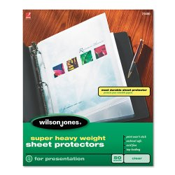 Wilson Jones - 21401 - Top-Loading Super Heavy Sheet Protectors, Nonglare Finish, Letter, 50/Box