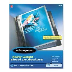 Wilson Jones - 21410 - Heavyweight Top-Loading Sheet Protectors, Letter, 50/Box