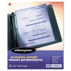 Wilson Jones - 21420 - Economy Weight Top-Loading Sheet Protectors, Letter, 50/Box