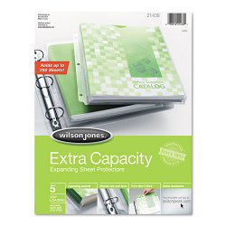 Wilson Jones - 21438 - Top-Loading Extra Capacity Sheet Protectors, Letter, 5/Pack