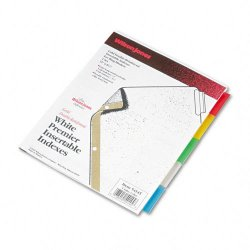 Wilson Jones - W54145A - Gold Pro Insertable Tab Index, Multicolor 5-Tab, Letter, White Sheets