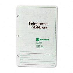 Wilson Jones - W812R - Looseleaf Phone/Address Book Refill, 5 1/2 x 8 1/2, 80 Sheets