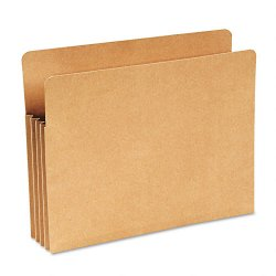 "Wilson Jones - WCC68RK - Recycled 3 1/2"" Expansion File Pocket, Straight Cut, Letter, Kraft"