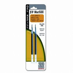 Zebra Pen - 87012 - Zebra Pen Sarasa Gel Retractable Pen Refill - Black - 1 / Pack