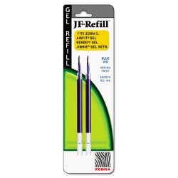 Zebra Pen - 87022 - Zebra Pen Sarasa Gel Retractable Pen Refill - Blue - 2 / Pack