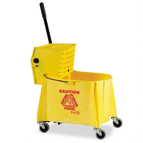 Rubbermaid - 618600 - WaveBrake 44 Quart Bucket/Sideward Pressure Wringer Combination, Yellow at Sears.com