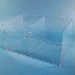 S-Curve Technologies - BD-25 - XL Bulk glove dispenser-2 compartments 1/4 clear acrylic 22w x 11.5h x 13d ( This listing is for case of 1 )