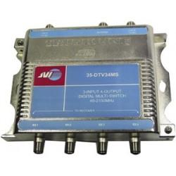JVI - 35-DTV34MS - JVI 35-DTV34MS 3 x 4 Satellite Multiswitch