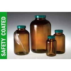 Qorpak - GLA-00970 - Safety Coated Wide Mouth Packer Bottles