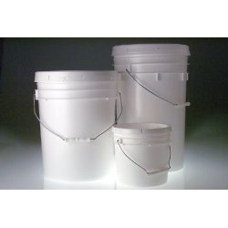 Qorpak - PLA-03240 - 5 Gallon White HDPE Open Head Pail, 4/CS