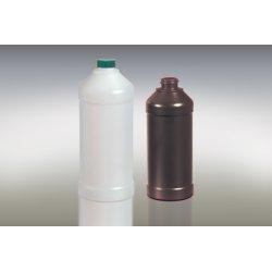 Qorpak - PLA-03378 - Modern Round Barrier Bottles - Amber