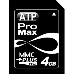 ATP Electronics - AF4GHMP - Atp, Accessory, Memory, High Speed Flash Memory Card, Compatible With Sd/mmc Digital Cameras Mp3 Pda Mobile Phone, Use In Mmc/mmc Mobile Device, 4gb