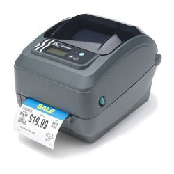 "Zebra Technologies - GX43-102510-000 - Zebra GX430t Thermal Transfer Printer - Monochrome - Desktop - Label Print - 4.09"" Print Width - 6 in/s Mono - 300 dpi - 8 MB - USB - Serial - Parallel - LCD - 5"" Roll Diameter - 4.25"" Label Width - 39"" Label Length"