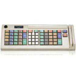 Logic Controls - KB5000MU-GY - Logic, Kb5000, Keyboard, Dk Gray, 66 Key Pos Layout, Programmable, Relegendable, 2 Position Keylock, 2 Track Msr, Usb Interface