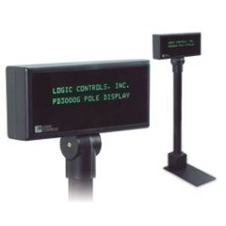 Logic Controls - PD3000-BK - Pole Display 2x20 5mm Rs232 Logic Controls Command Set Black