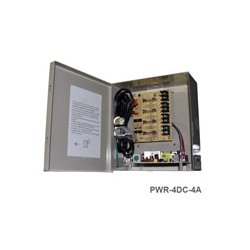 IC Realtime - PWR-4DC-4A - IC Realtime PWR-4DC-4A Proprietary Power Supply - 120 V AC Input Voltage - 12 V DC Output Voltage - Box
