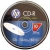 Hewlett Packard (HP) - CR52WJH010CB - HP CR52WJH010CB 700MB 80-Minute 52x Printable CD-Rs, 10-ct Cake Box Spindle
