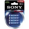 Sony - S-AM4B4A - SONY S-AM4B4A STAMINA(R) PLUS Alkaline Batteries (AAA; 4 pk)