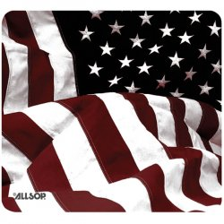 Allsop - 29302 - Allsop US Flag Mouse Pad - American Flag - 0.1 x 8.5 x 8 Dimension - Rubber Base, Natural Rubber Base, Cloth Top