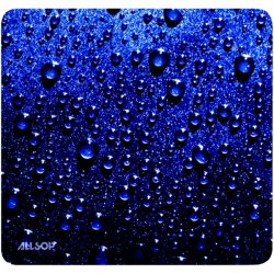 Allsop - 30182 - Allsop Naturesmart Mouse Pad - Raindrop - 0.1 x 8.5 Dimension - Rubber Base, Cloth Surface, Natural Rubber Base